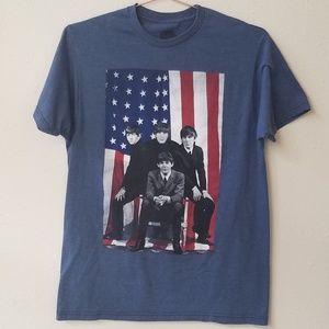 The Beatles USA Flag Graphic Tee Size M